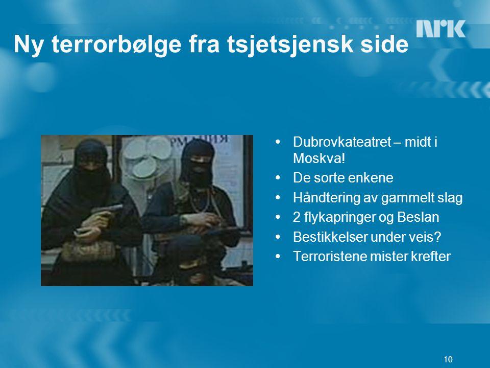 10 Ny terrorbølge fra tsjetsjensk side  Dubrovkateatret – midt i Moskva.