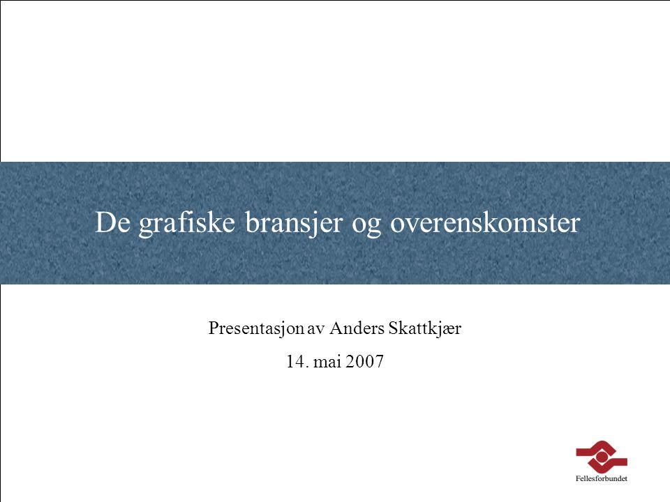 De grafiske bransjer og overenskomster Presentasjon av Anders Skattkjær 14. mai 2007