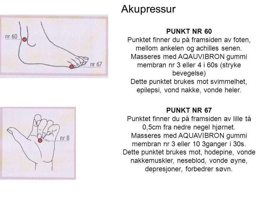 Akupressur PUNKT NR 60 Punktet finner du på framsiden av foten, mellom ankelen og achilles senen.