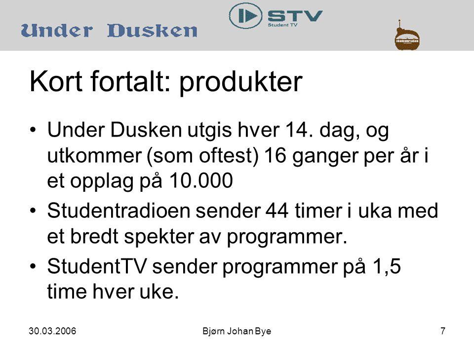 30.03.2006Bjørn Johan Bye8 Kort fortalt: Under Dusken Oppfatning om trykte medier 2005