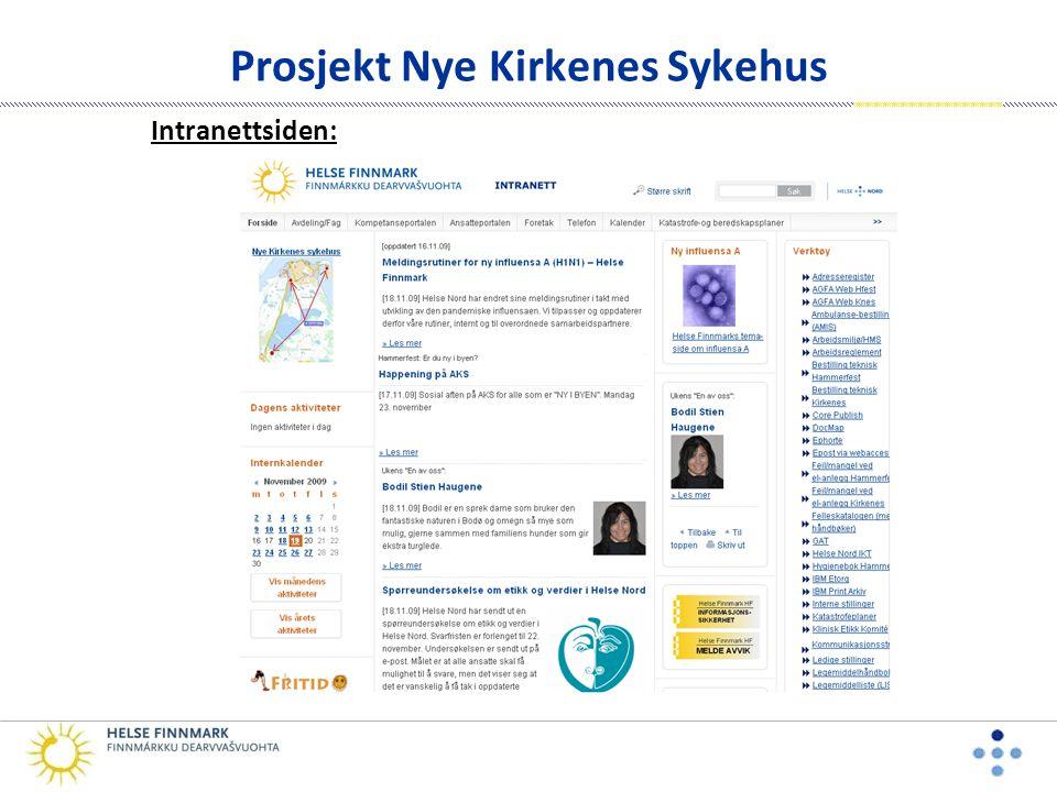 Prosjekt Nye Kirkenes Sykehus Intranettsiden: