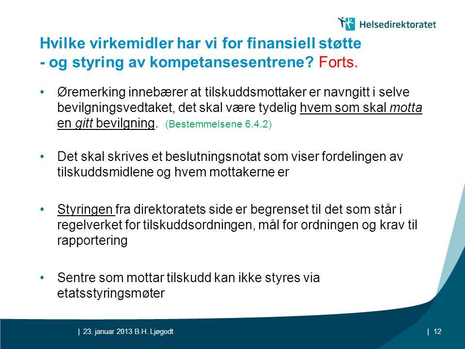 || Hvilke virkemidler har vi for finansiell støtte - og styring av kompetansesentrene? Forts. •Øremerking innebærer at tilskuddsmottaker er navngitt i