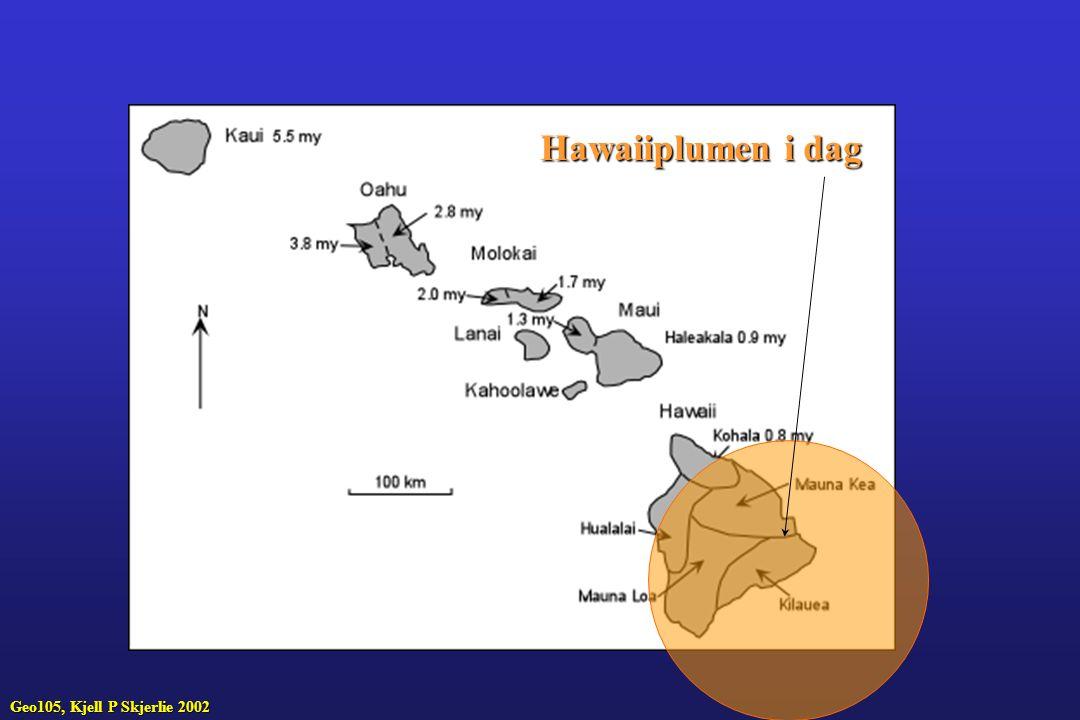 Hawaiiplumen i dag Geo105, Kjell P Skjerlie 2002