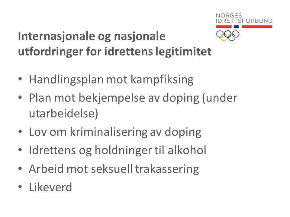 Idrettspolitisk dokument 2011 – 2015 Nulltoleranse 2.4.