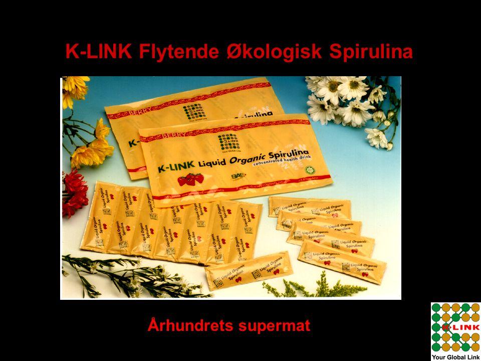 K-LINK Flytende Økologisk Spirulina Århundrets supermat