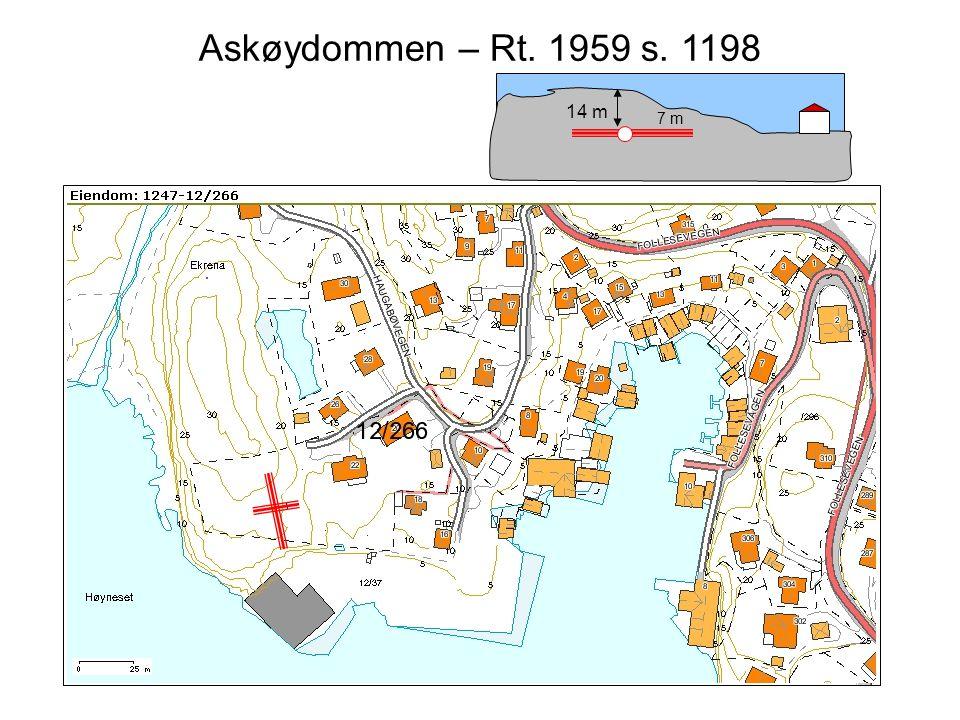 Steinar Taubøll - JUS100 UMB Overflateeierens rett til undergrunnen • Askøydommen – Rt.