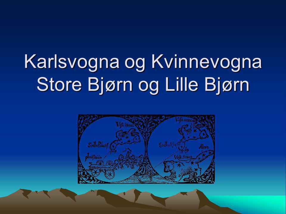 Karlsvogna – Store Bjørn Håndtaket ligger i rompa til bjørnen.