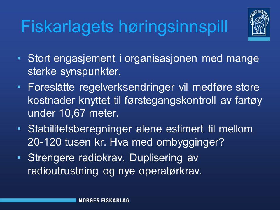 Dialog med Sjøfartsdirektoratet •Fiskarlaget hadde er møte med Sjøfartsdirektoratet 15.