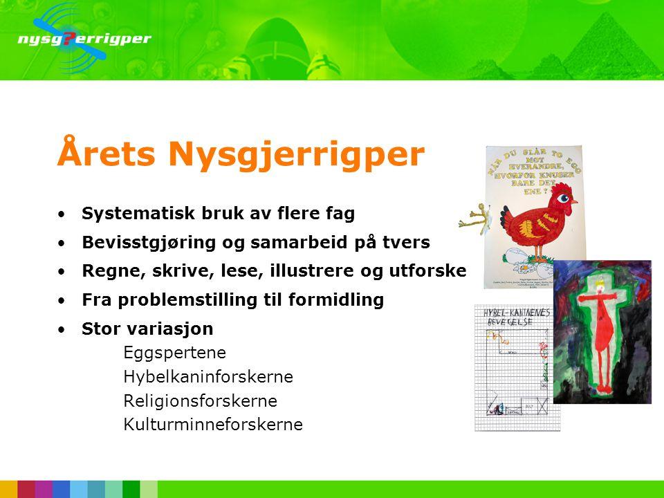 Årets Nysgjerrigper •Årlig nasjonal forskningskonkurranse •Nysgjerrigperfondet •Frist for innsending 1.