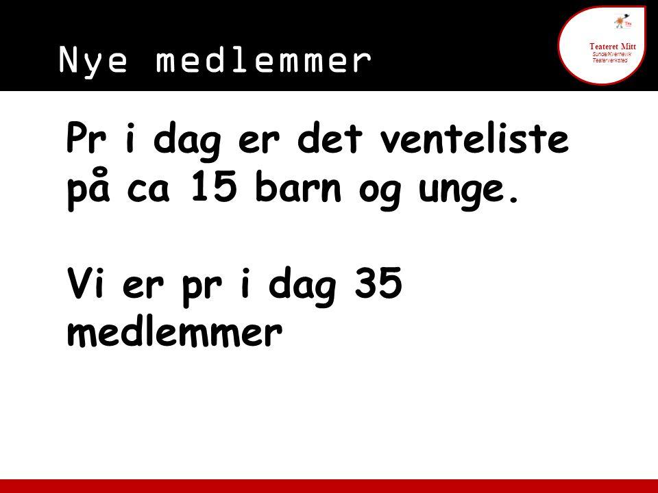 Foreldre engasjement 6 Teateret Mitt Sunde/Kvernevik Teaterverksted § 5.