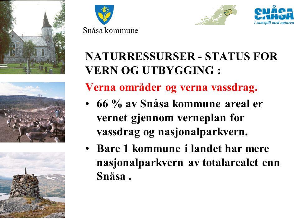 Snåsa kommune NATURRESSURSER - STATUS FOR VERN OG UTBYGGING: Eksisterende kraftverk.