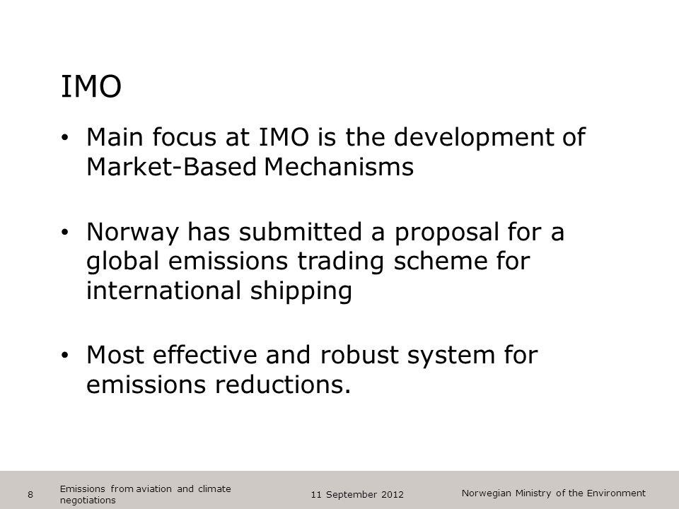 """Norwegian Ministry of the Environment Tips bunntekst: For å få bort sidenummer, dato, samt redigere tittel på presentasjon: Klikk på """"Sett Inn"""" -> Top"""