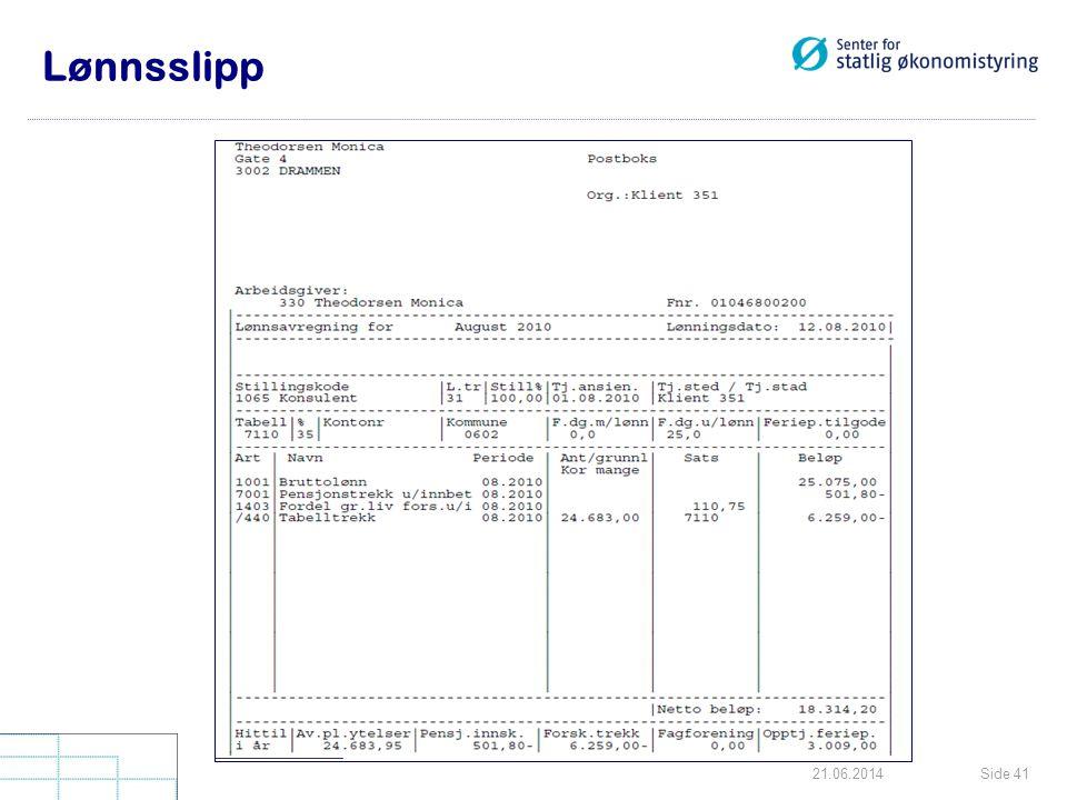 Side 4121.06.2014 Lønnsslipp