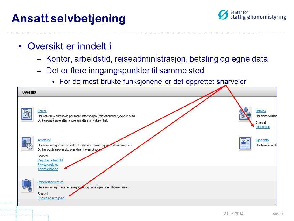 Side 4821.06.2014 Skifte av passord Klikk på linken Persontilpass Nytt vindu Endre passord kommer opp.