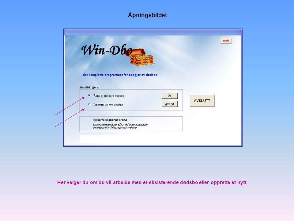 Programmet følger Windows-standarden for åpning av filer