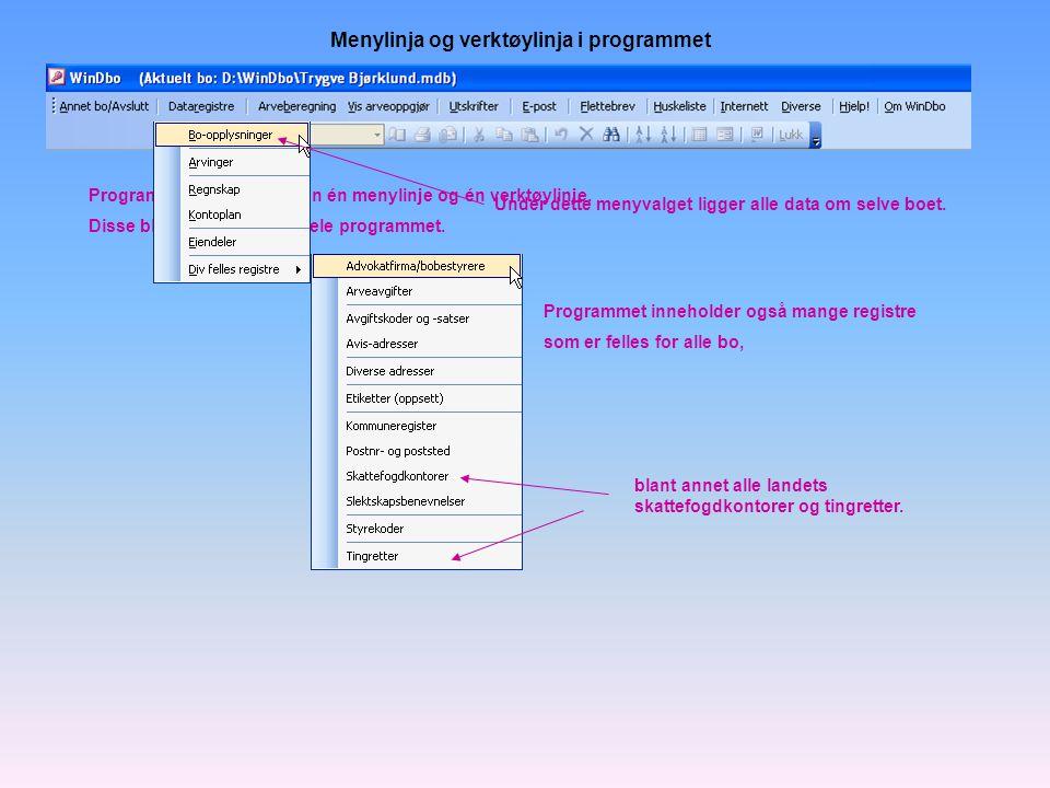 Programmet produserer også utbetalingslister