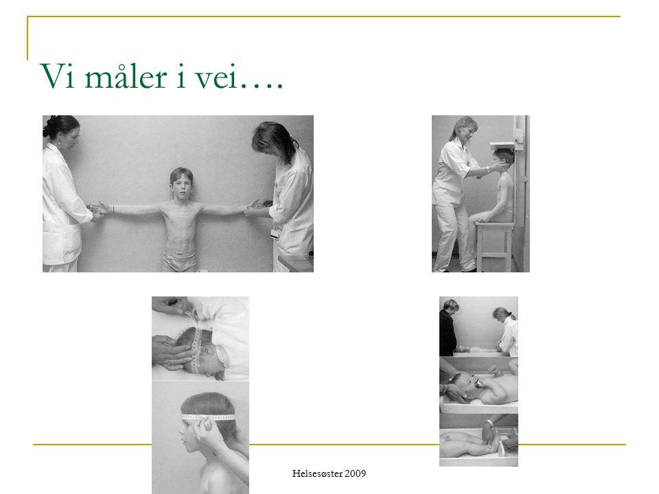 Helsesøster 2009 Vi måler i vei….
