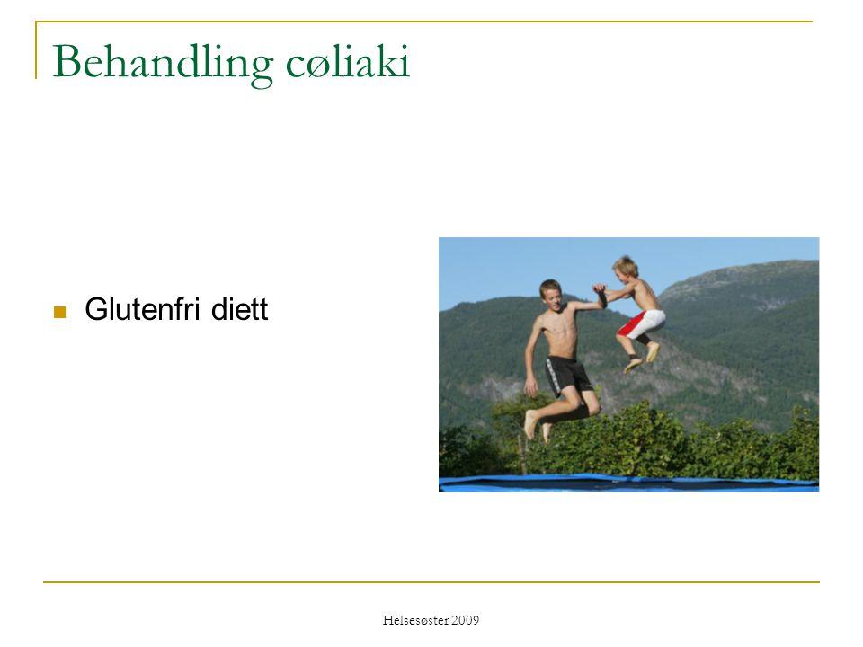 Helsesøster 2009 Behandling cøliaki  Glutenfri diett