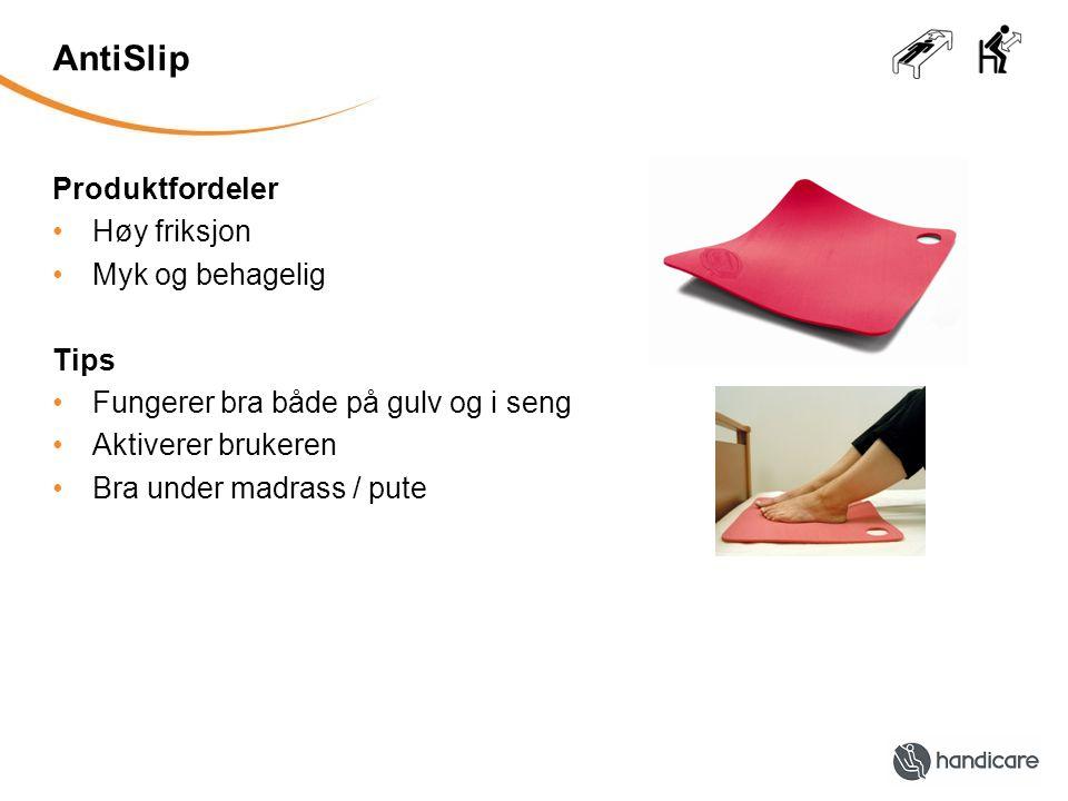 ComfortCushion Produktfordeler •Hindrer glidning nedover i sengen •Hygienisk, tette celler •Avrundet, gir en behagelig sittestilling Tips •Plasseres direkte på lakenet •Tas bort når ryggvinkelen er nede igjen