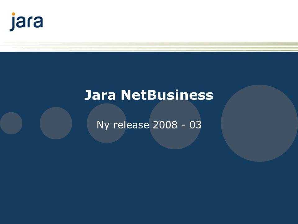 Introduksjon Denne presentasjonen går gjennom endringer i Jara NetBusiness, 28.
