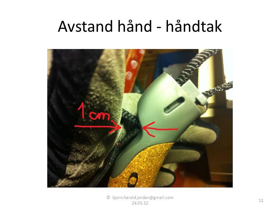 Avstand hånd - håndtak © bjorn.harald.jordan@gmail.com 24.01.12 12