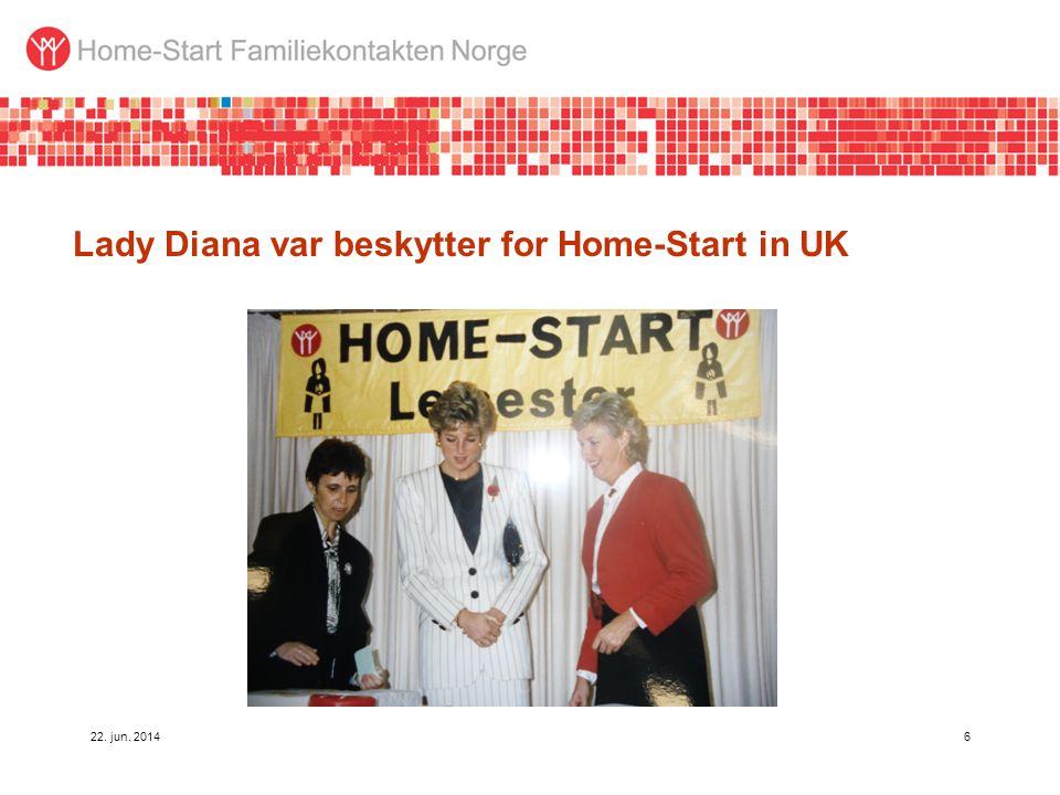 Lady Diana var beskytter for Home-Start in UK 22. jun. 20146