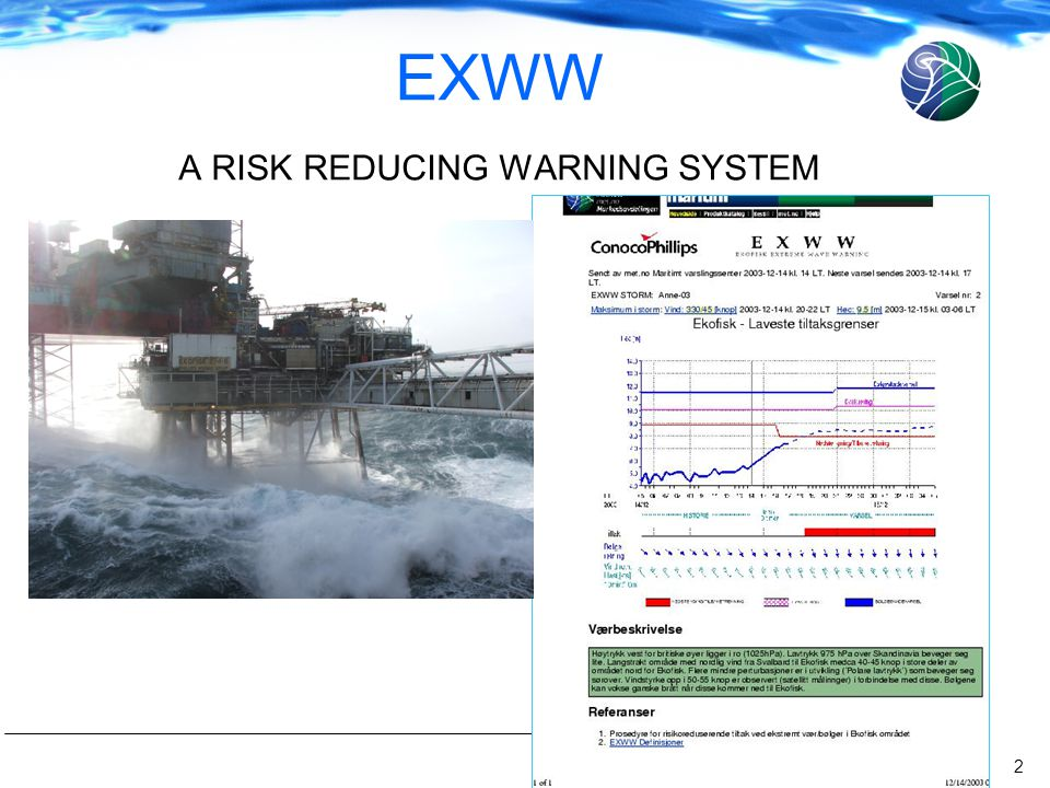 2 EXWW A RISK REDUCING WARNING SYSTEM