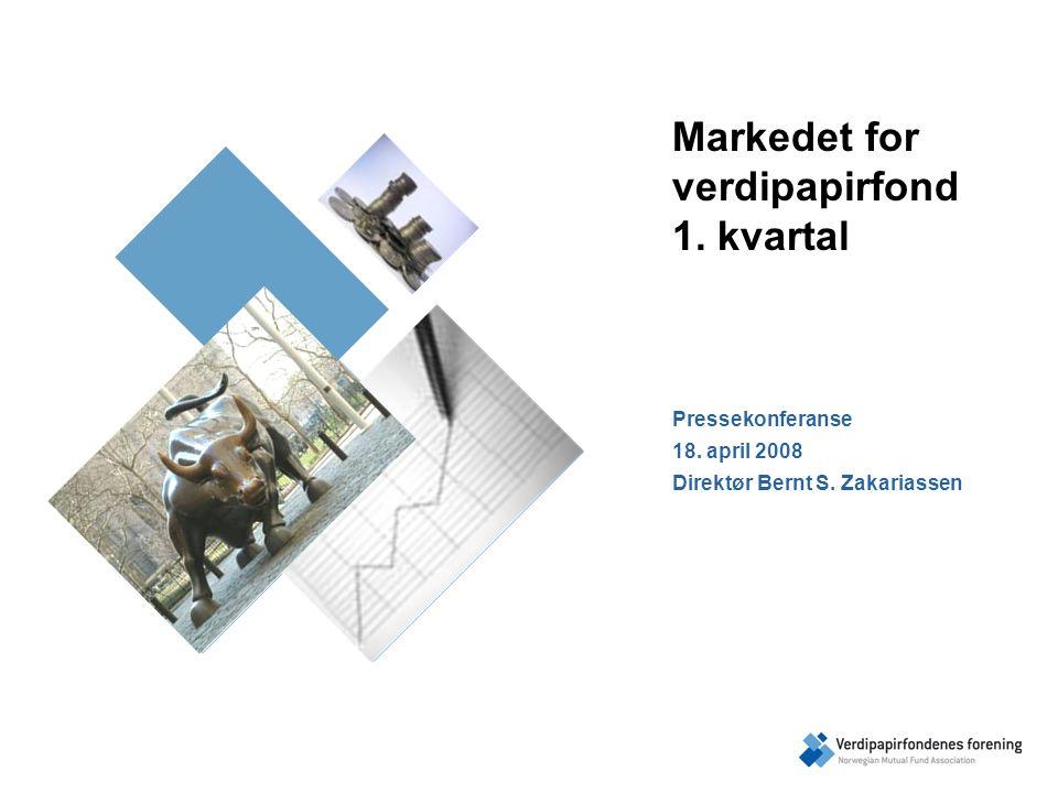 1.kvartal 2008 Flukten fra risiko Samlet nettotegning på 0,7 mrd.