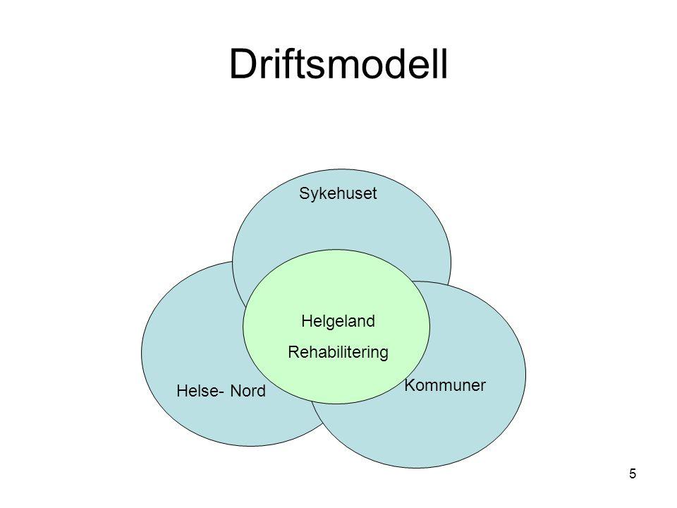 5 Driftsmodell Sykehuset Helgeland Rehabilitering Kommuner Helse- Nord