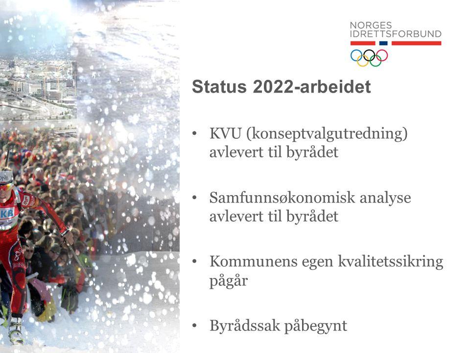 Status 2022-arbeidet • KVU (konseptvalgutredning) avlevert til byrådet • Samfunnsøkonomisk analyse avlevert til byrådet • Kommunens egen kvalitetssikring pågår • Byrådssak påbegynt