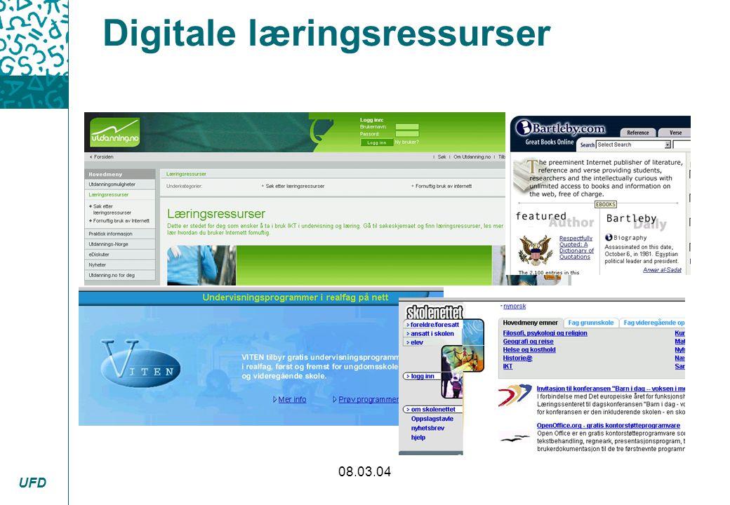 UFD 08.03.04 Digitale læringsressurser