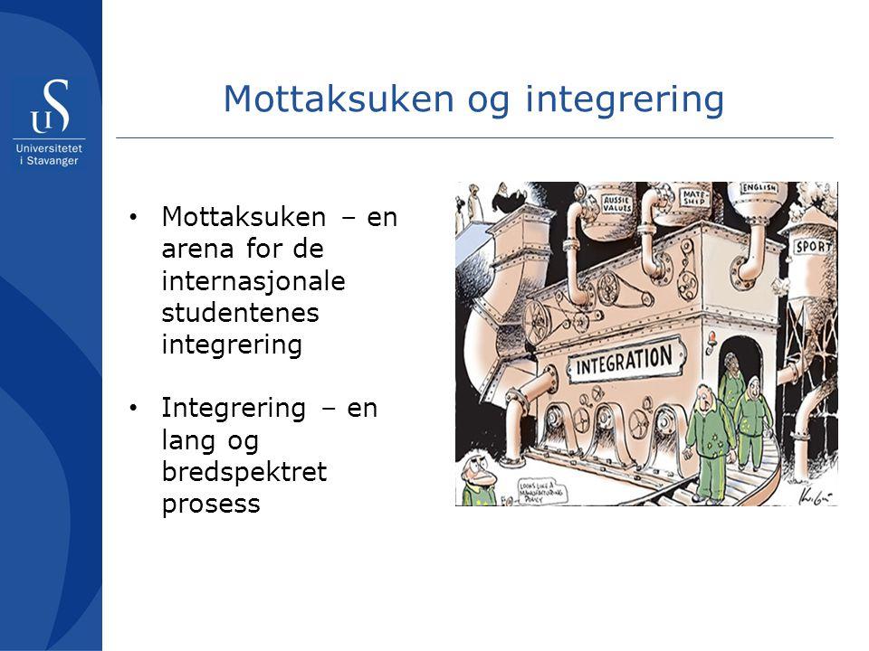 I forkant av mottaksuken •E-postkorrespondanse •International Student Guide •Facebook •Hentetjeneste