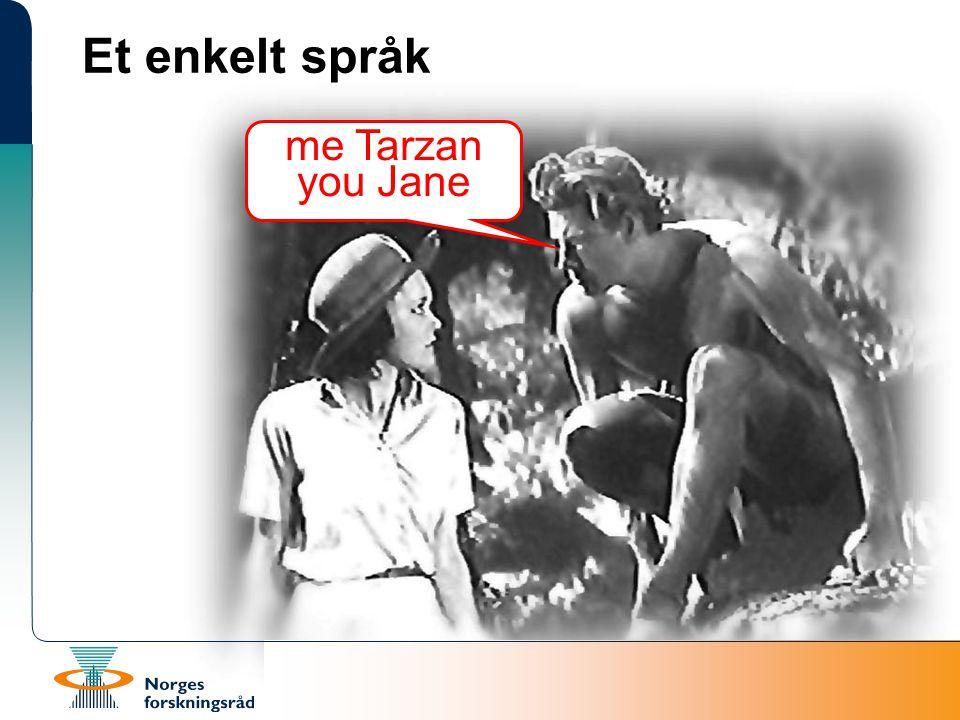 Et enkelt språk me Tarzan you Jane