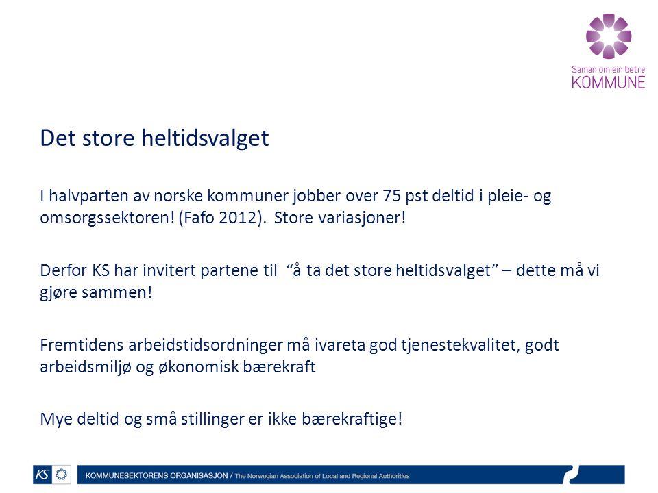 Det store heltidsvalget I halvparten av norske kommuner jobber over 75 pst deltid i pleie- og omsorgssektoren.