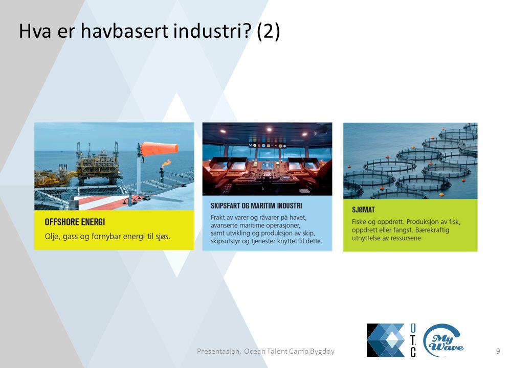 Hva er havbasert industri? (2) Presentasjon, Ocean Talent Camp Bygdøy9