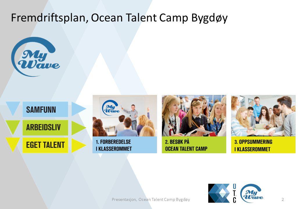 Fremdriftsplan, Ocean Talent Camp Bygdøy Presentasjon, Ocean Talent Camp Bygdøy2