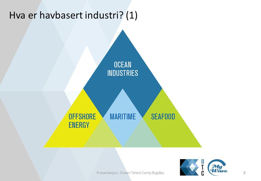 Hva er havbasert industri? (1) Presentasjon, Ocean Talent Camp Bygdøy8
