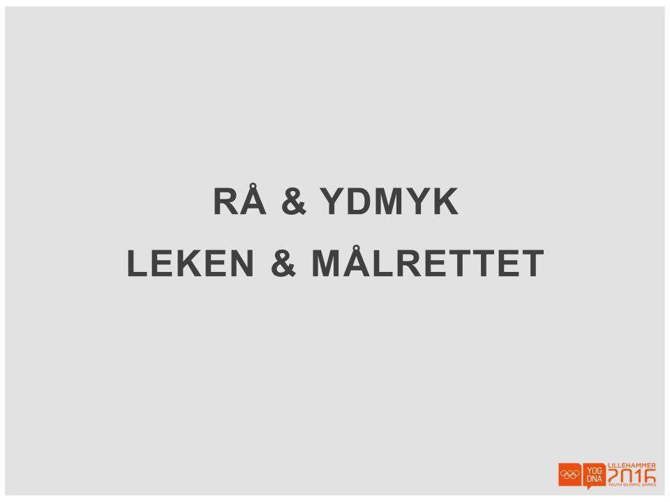 RÅ & YDMYK LEKEN & MÅLRETTET