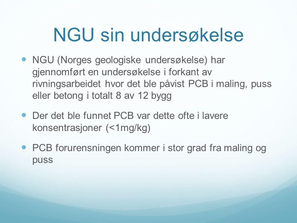 Mitt arbeid  Masteroppgave som tar utgangspunkt i å undersøke på hvilken måte PCB innholdig betong kan saneres  Tilknyttet NTNU/v Rolf Tore Ottesen  Vekt på å dokumentere miljøaspektene ved rivningen og gjenbruket av betongen fra St.