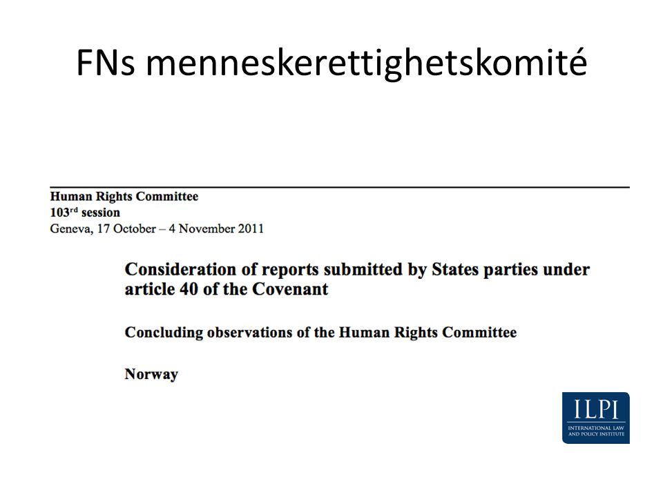 FNs menneskerettighetskomité