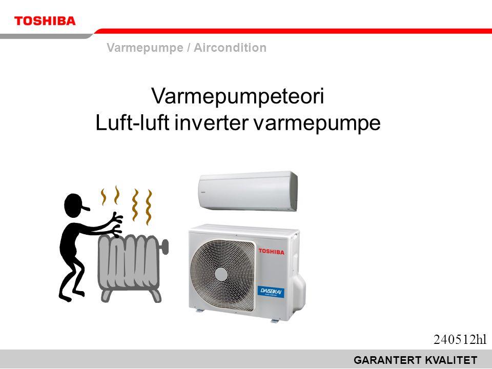 Varmepumpe / Aircondition GARANTERT KVALITET Varmepumpeteori Luft-luft inverter varmepumpe 240512hl