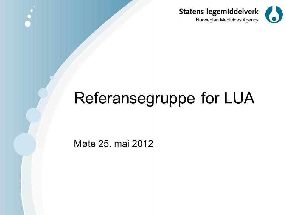 Referansegruppe for LUA Møte 25. mai 2012