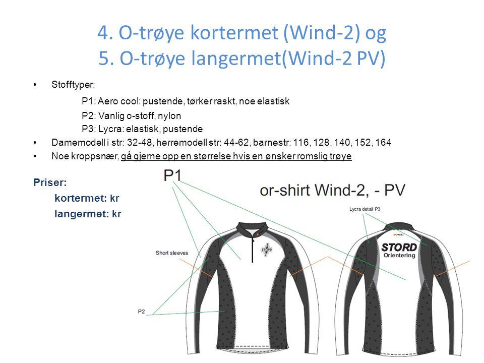 4.O-trøye kortermet (Wind-2) og 5.