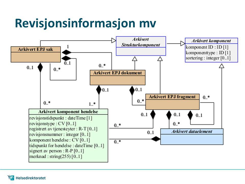 Revisjonsinformasjon mv
