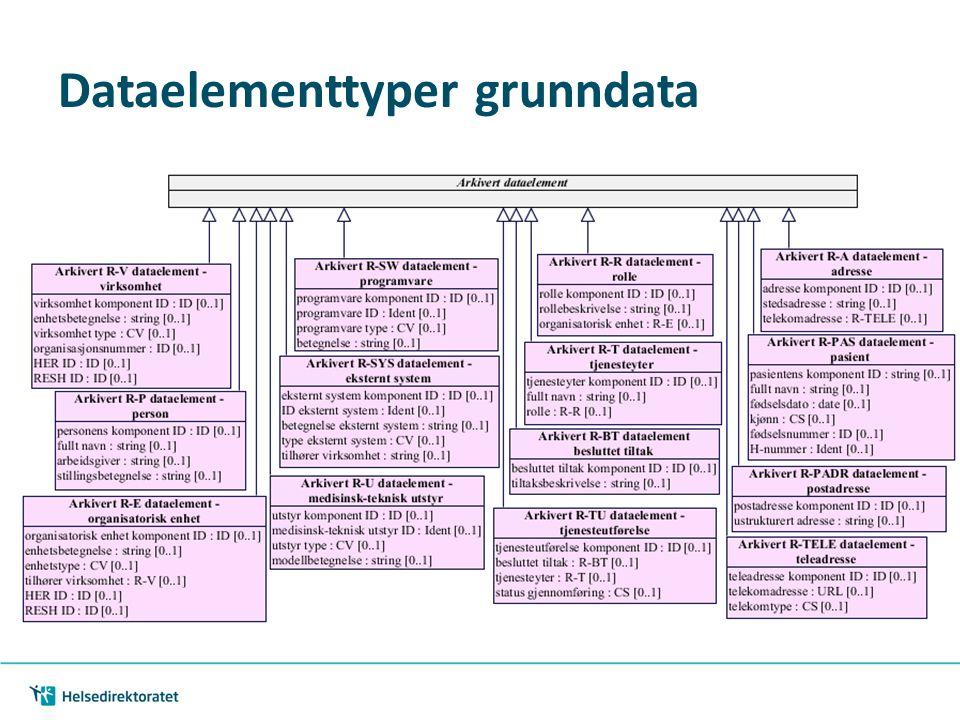 Dataelementtyper grunndata