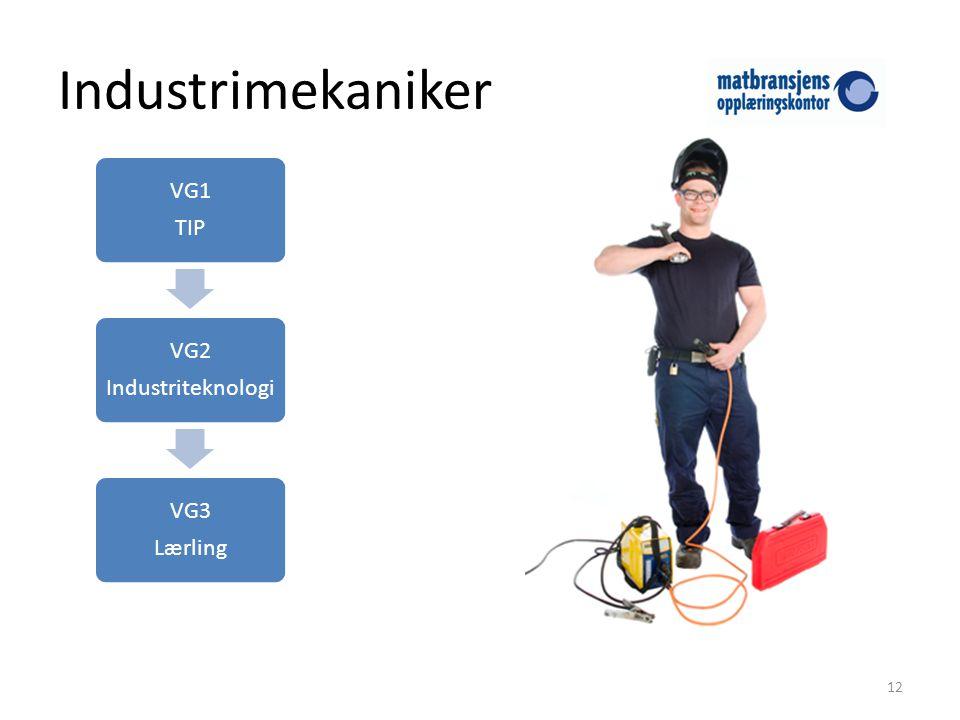 Industrimekaniker 12 VG1 TIP VG2 Industriteknologi VG3 Lærling