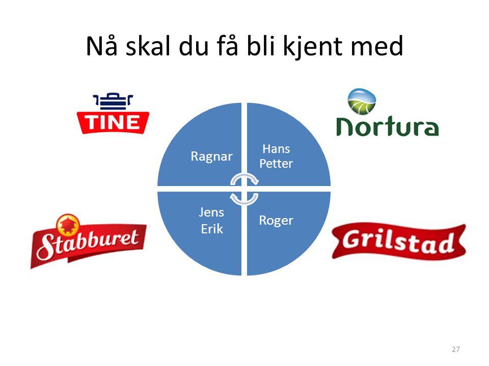 Nå skal du få bli kjent med 27 Ragnar Hans Petter Roger Jens Erik