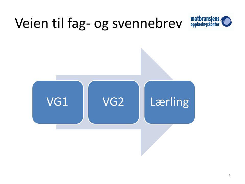Veien til fag- og svennebrev 9 VG1VG2Lærling
