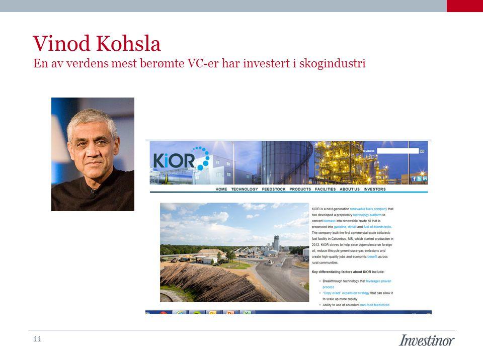 Vinod Kohsla En av verdens mest berømte VC-er har investert i skogindustri 11