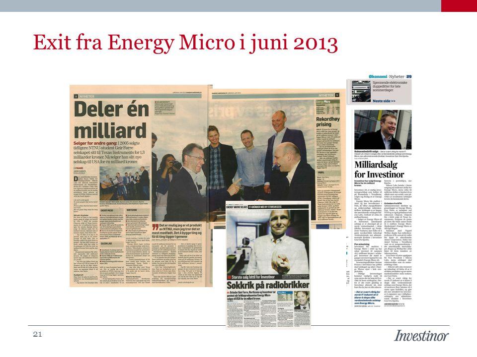 Exit fra Energy Micro i juni 2013 21